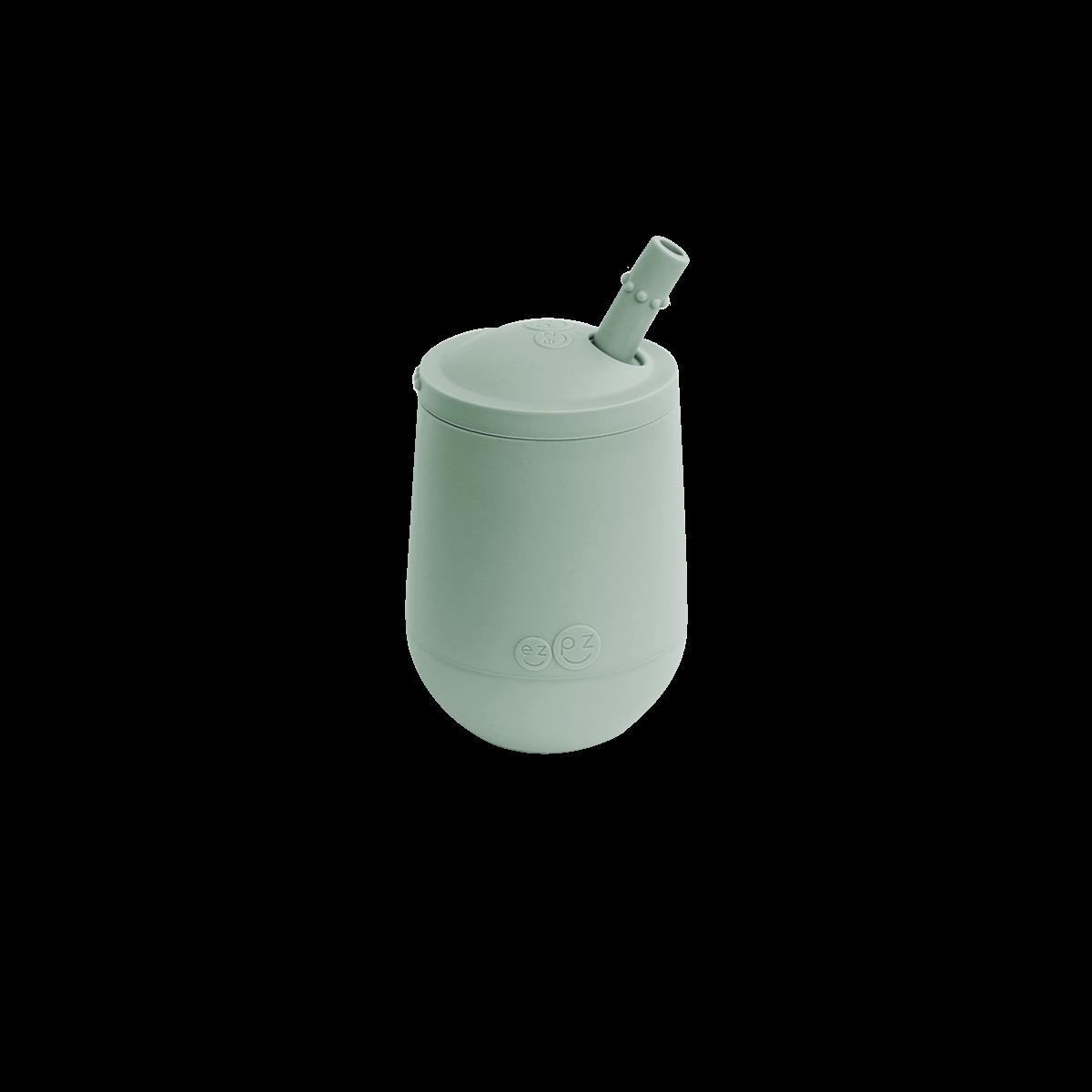 Чашка у наборі з кришкою та соломинкою  оливкова