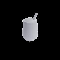 Чашка у наборі з кришкою та соломинкою сіра