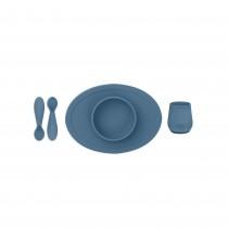 Первый набор посуды синий (4 ед. в наборе)