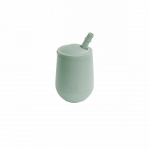 Чашка в наборе с крышкой и соломинкой  оливковая