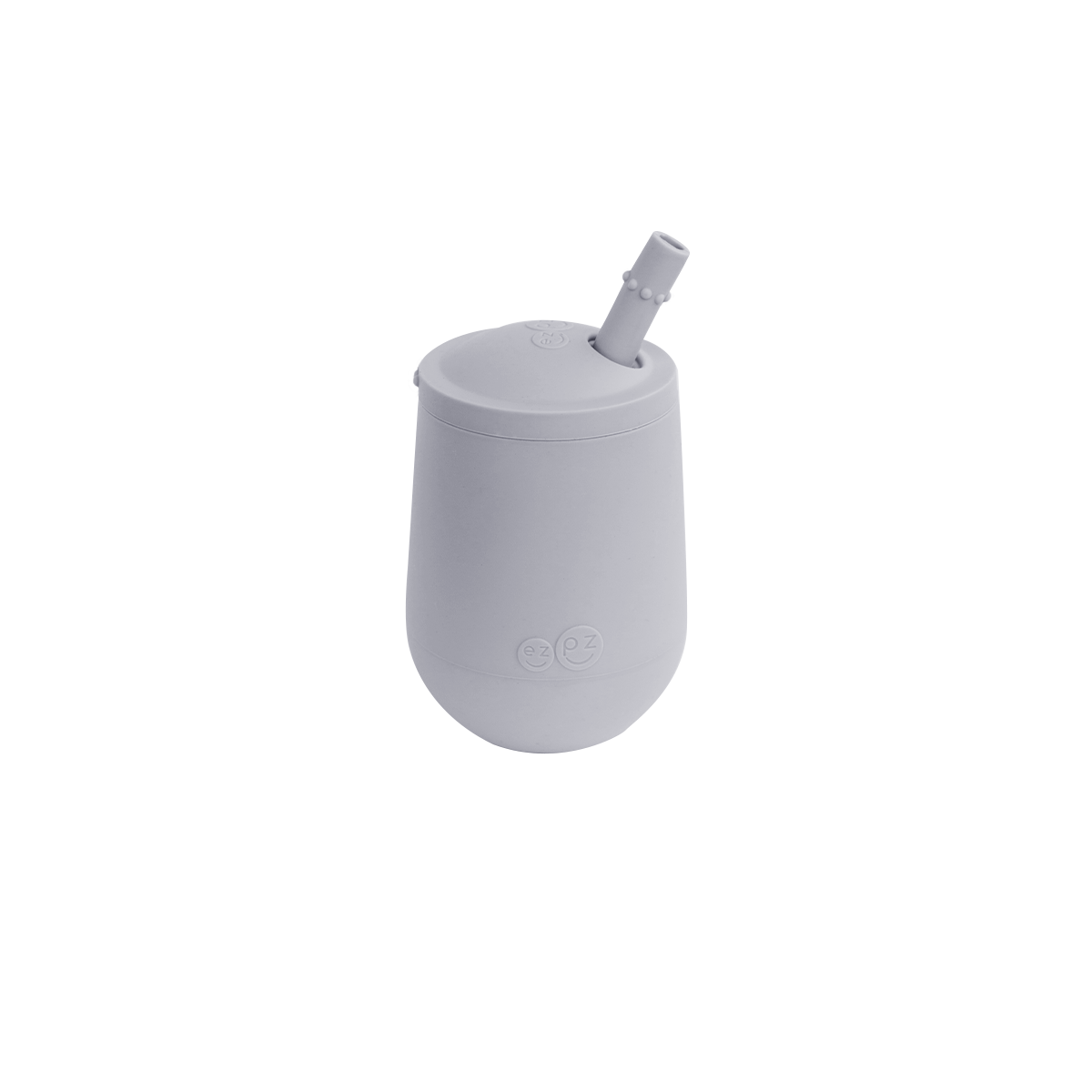 Чашка в наборе с крышкой и соломинкой серая