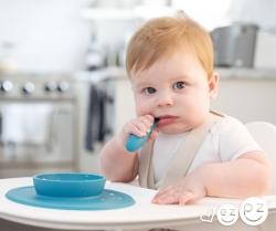 Когнітивні,  мовні етапи розвитку дитини удосконалюються при їжі